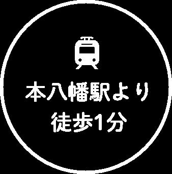 本八幡駅より徒歩1分